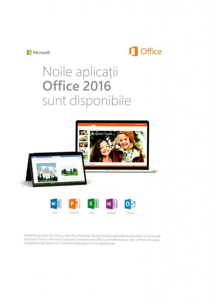noile aplicatii Office 2016 disponibile